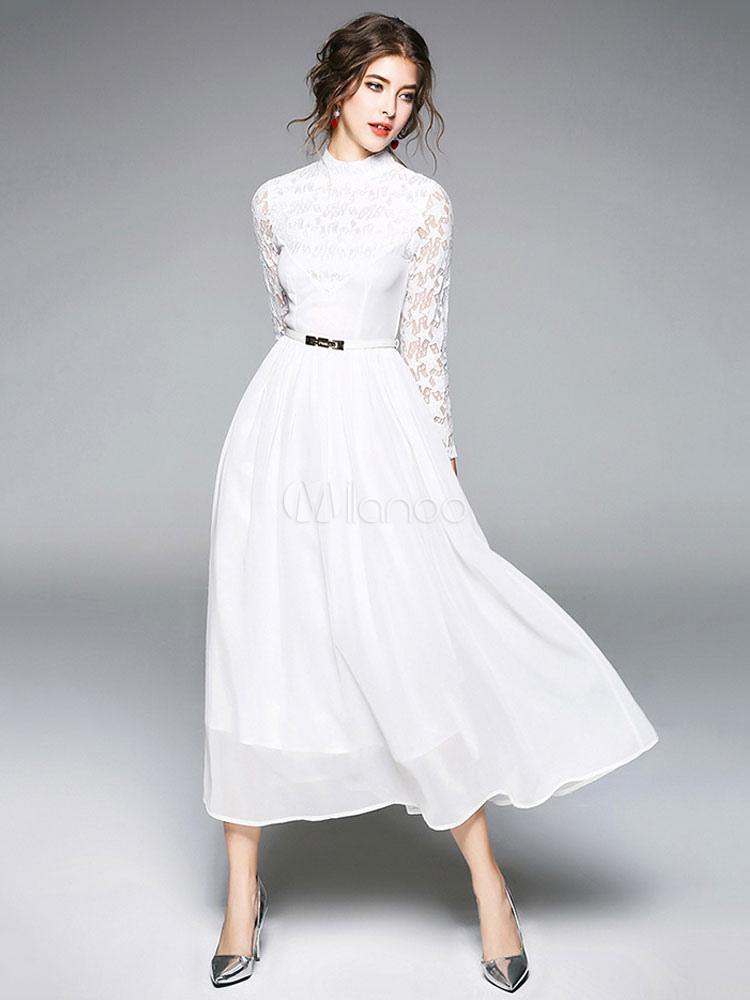 Vestidos largos y blancos