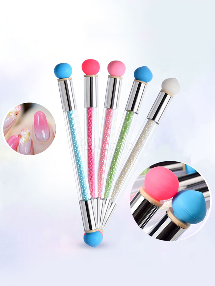 Nail Art Pencil Dual Silicone End Changeable Bead Ombre Blender Nail ...