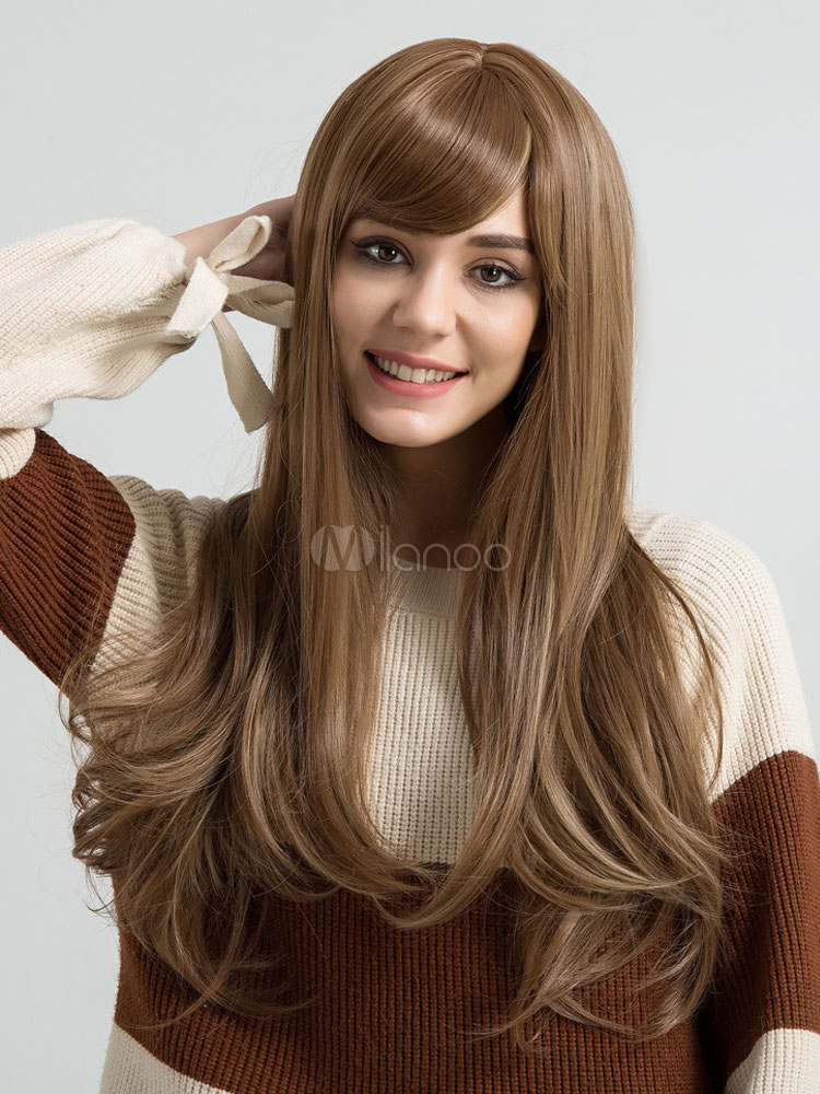 Long Hair Wigs Women Layered Straight