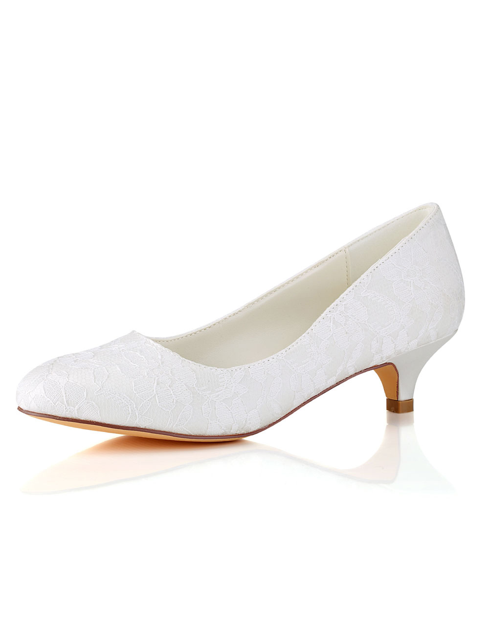 Lace Mother Shoes Round Toe Wedding