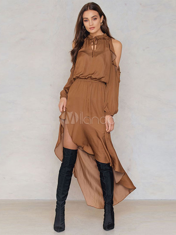 boots with high low dress