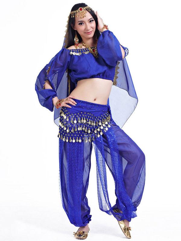 Trajes de danza del vientre negro mujeres gasa ropa de baile ...