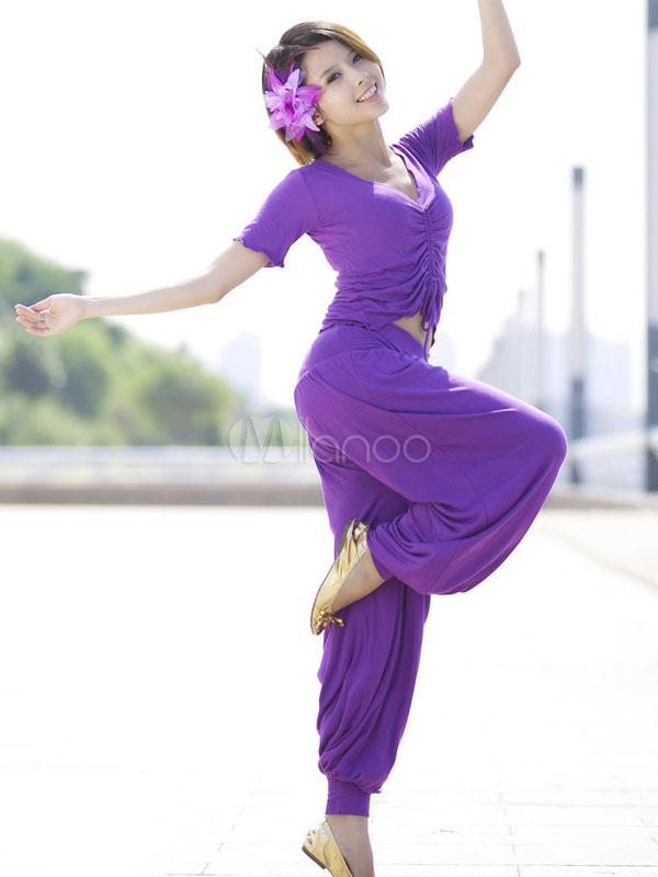 Traje de danza del vientre negro algodón mujeres 2 piezas traje ...