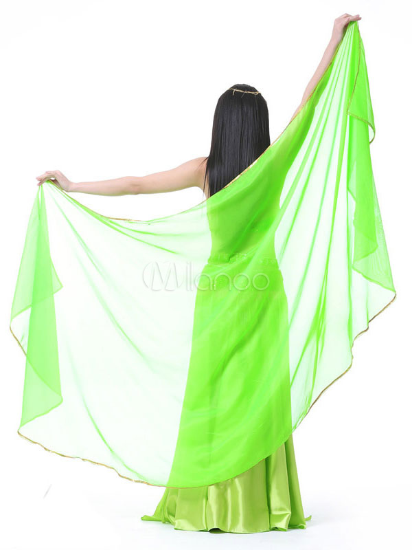 Belly Dance Shawls Light Green Women Chiffon Belly Dancing Accessories