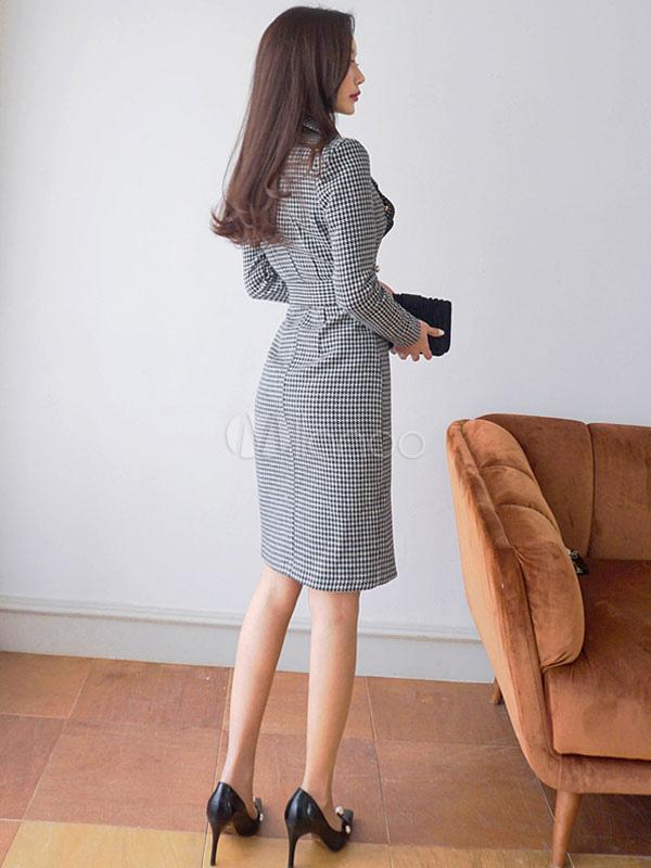 Black bodycon work dress