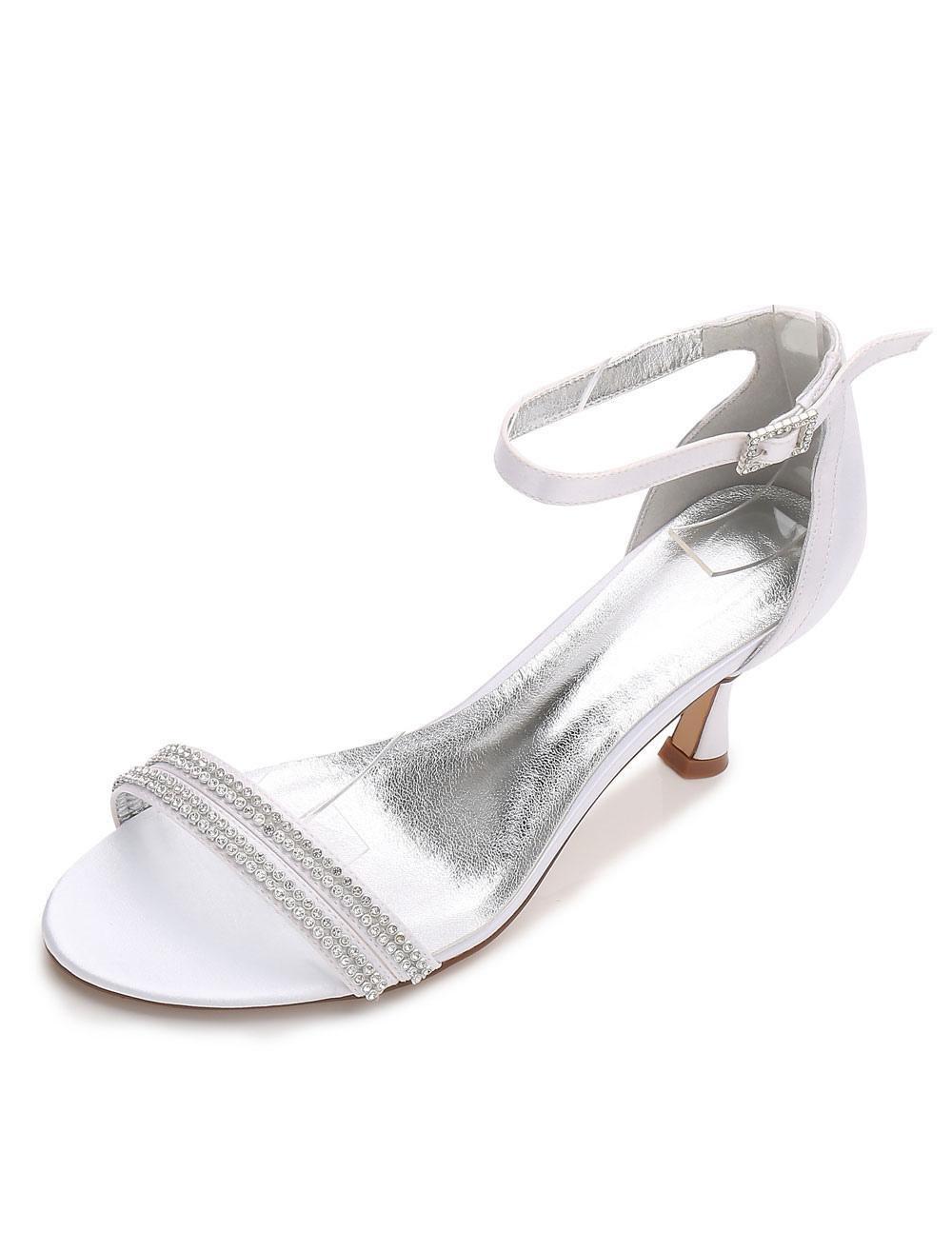 e9347a329e312c ... Rhinestone Ankle Strap Bridal Sandals-No.10. 12. 40%OFF. Color White