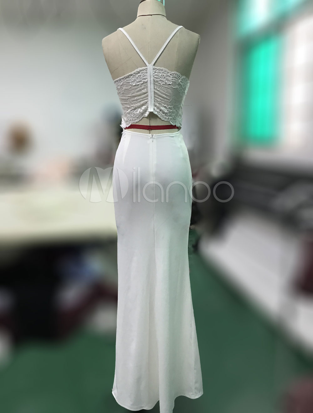 c3f43f84eb6 ... White Long Dress Strappy Sleeveless Slim Fit Maxi Dress Women Bodycon  Dress-No.3