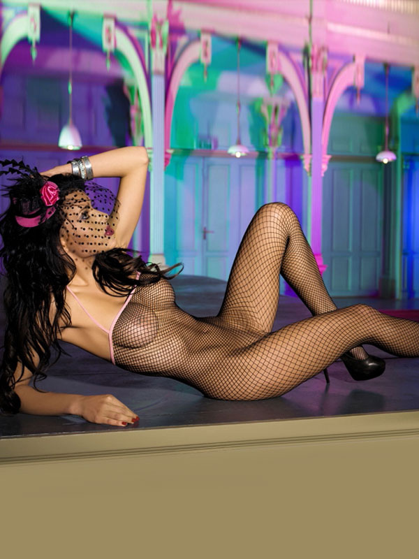 Black Women Bodystocking Nylon Crotchless Net Sheer Sexy Lingerie