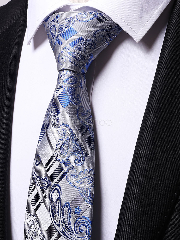 Men Dress Tie Paisley Jacquard Neck Tie