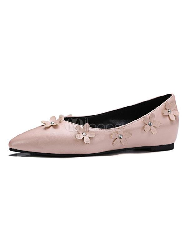 Zapatos planos Planos de puntera puntiaguada para mujer Color liso para ocasión informal 7lCSnJ