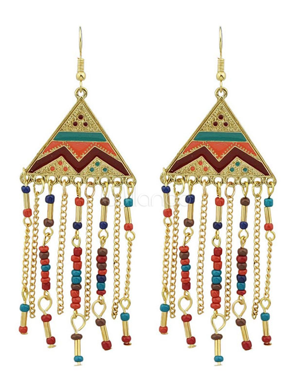 Boho Dangle Earrings Chandelier Earrings Bead Statement Earrings For Women