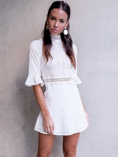 High Collar Summer Dress