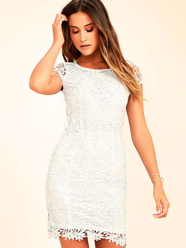 663866a1a3bf Black Lace Dress Short Sleeve Backless Cut Out Sexy Summer Dress For  Women-No.