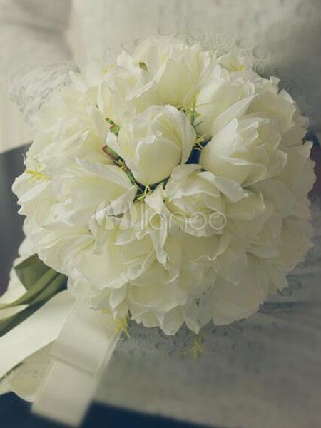 Matrimonio In Bianco : Bouquet da sposa fiori per il matrimonio matrimonio bianco rotondo