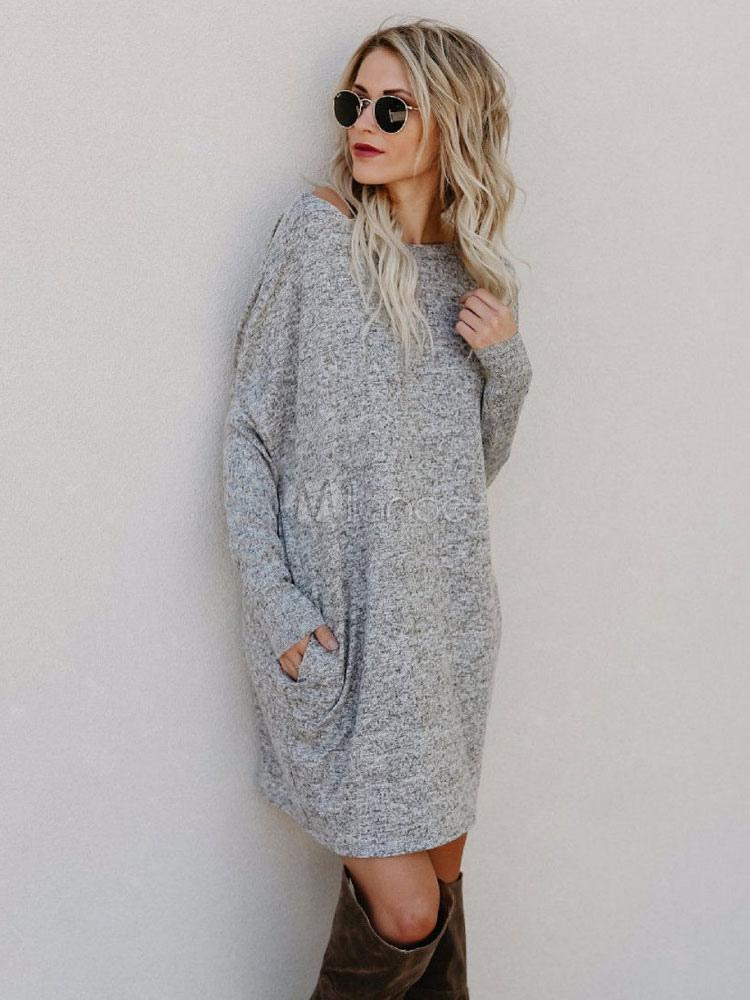 Vestidos de punto de algodon
