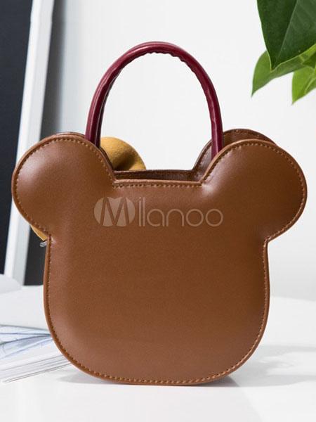 Bolso Sweet Lolita de Mickey Mouse con dos tonos de PU Lolita marrón Se3vmF
