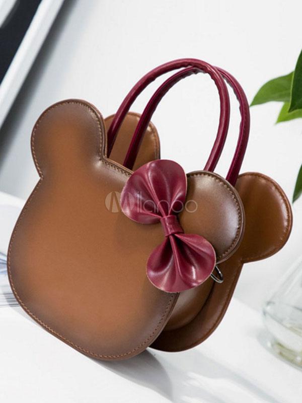 Bolso Sweet Lolita de Mickey Mouse con dos tonos de PU Lolita marrón 0S6TidUk