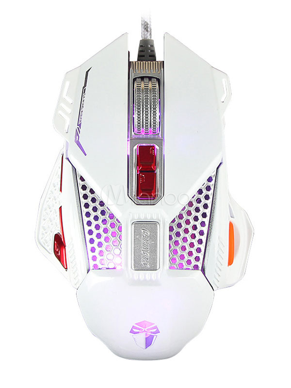 Buy Wired Gaming Mouse 3200 DPI Internal Chip Light Switch Metallic Scroll Optical Mouse for $19.54 in Milanoo store