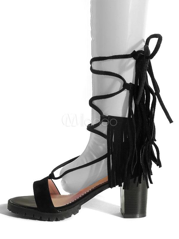 Gladiador Sandalias De Sandalia Cordones Mujer Zapatos Con O0wknp mO8Nwyvn0
