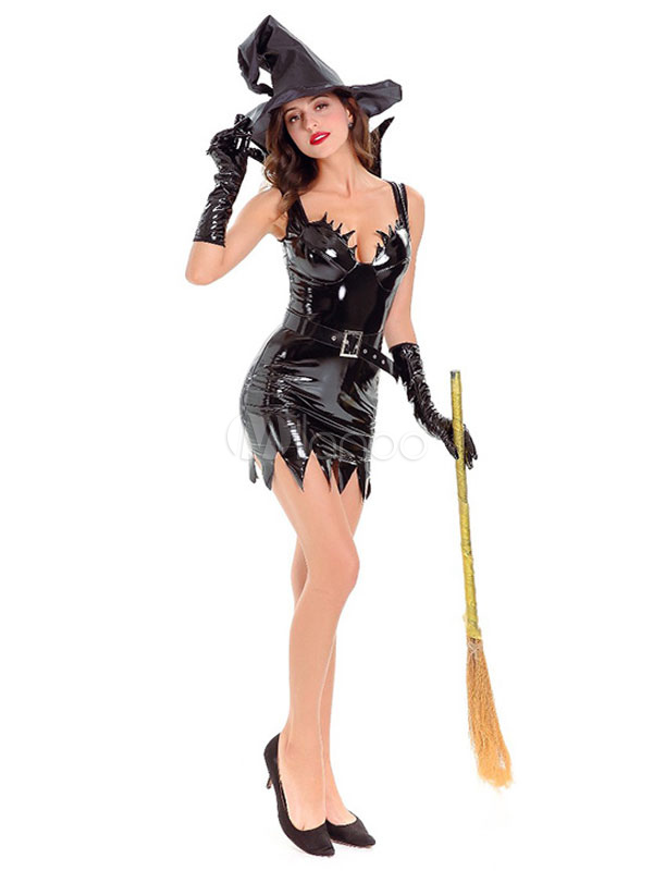 ... Costumi uomo strega per adulti per donni cintura Halloween monocolore  neri set -No.3 ... 69a82f866d5d