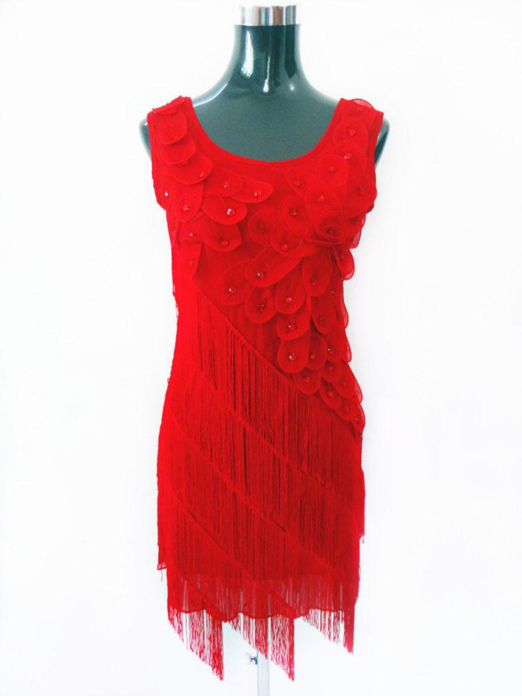 27feae10c4b2 ... Costume da ballo latino americano lycra spandex monocolore ballerino  Latino fibra di poliestere abito per adulti ...