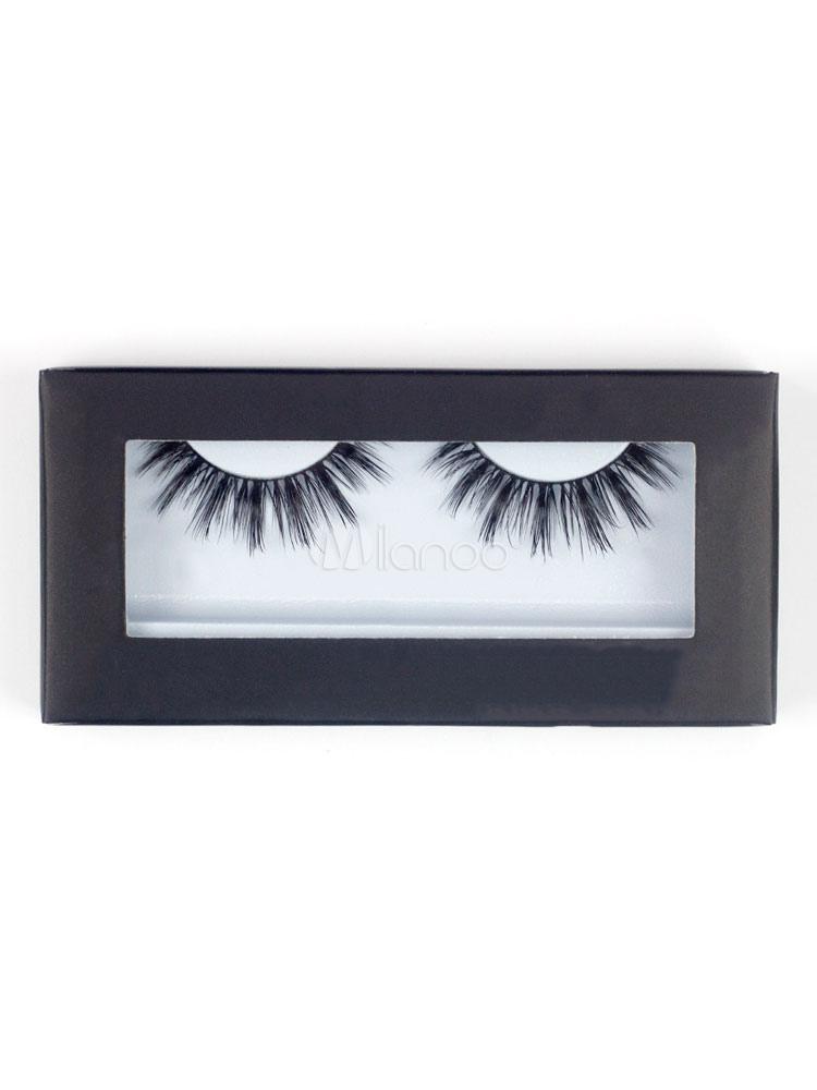 Buy Black False Eyelashes Women Layered Thickening Natural Eyelash Extension for $2.79 in Milanoo store