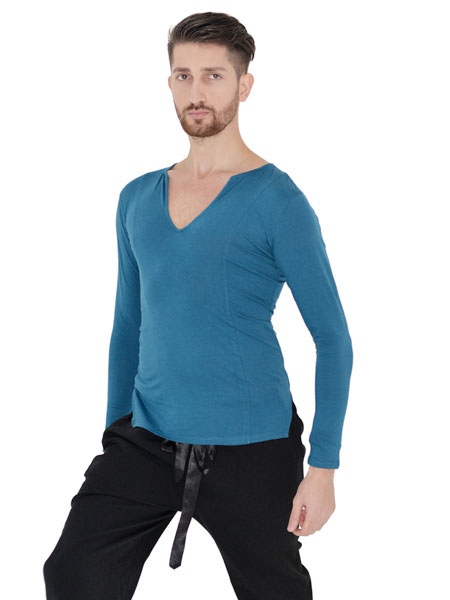 83120ac6fbb1 ... Ballroom Dance Costume Top Men White Long Sleeve Practice Dancing  Clothes-No.4