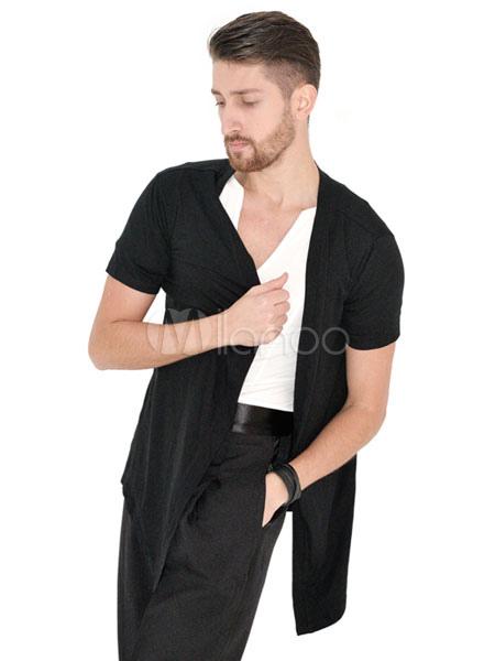 0c596230d2ee ... Ballroom Dance Costume Top Men Black Short Sleeve Practice Dancing  Clothes-No.2 ...