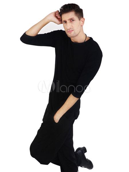 a70080999 ... Ballroom Dance Top Costume Printed Men Black Practice Dancing Clothing-No.3  ...