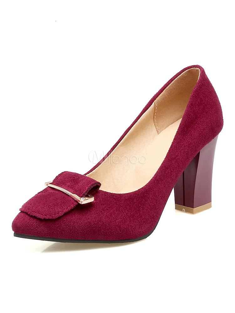 Zapatos de tacón alto de color marrón con tacones en punta en las bombas para mujeres nF1FkvPF