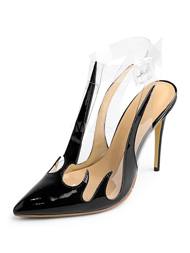 Buy Black High Heels Pointed Toe Stiletto Ankle Strap Women Pumps for $76.49 in Milanoo store