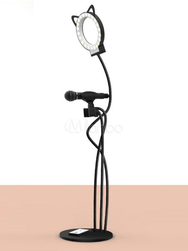 Phone Fill Light 3 In 1 Phone Stand Adjustable LED Light Mic Holder Remote Controller Portable Live Stream Kit