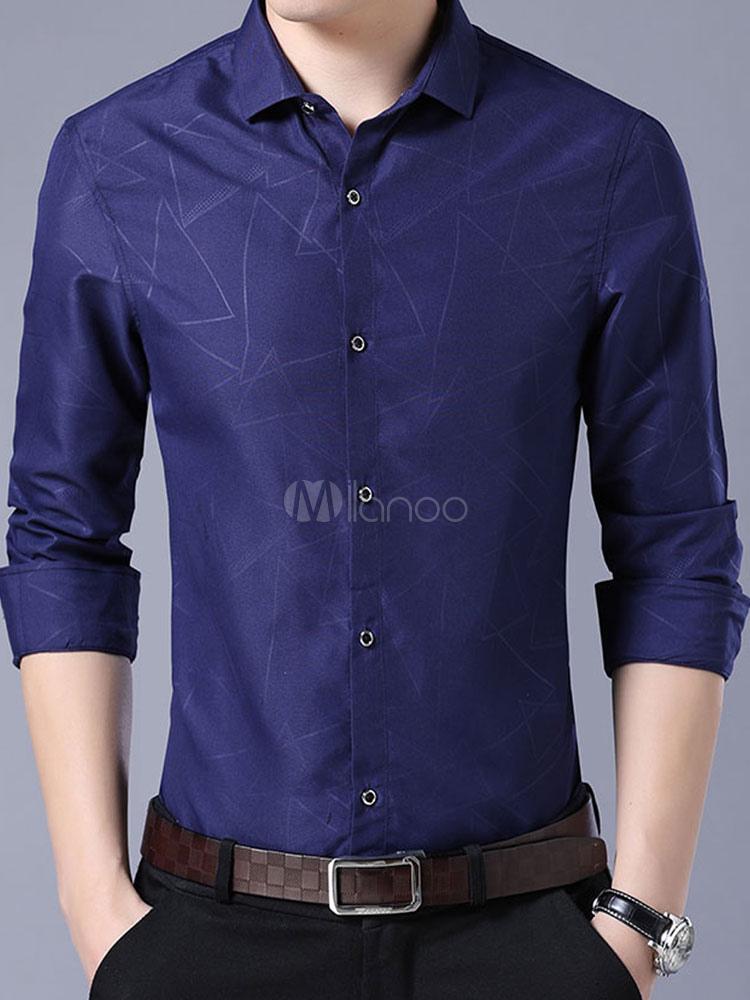 Camisa de vestir para hombre Camisa de manga larga para negocios con ...
