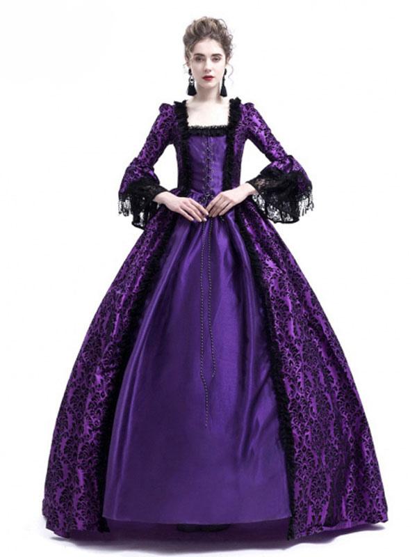 Traje retro de Halloween Vestidos barrocos de estilo victoriano ...
