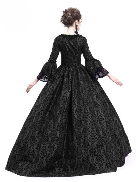 Black Victorian Long Ball Dresses