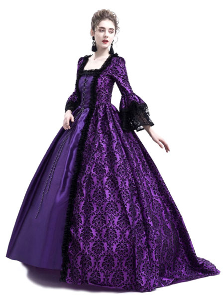 Retro Costume Halloween Baroque Victorian Dresses Gothic