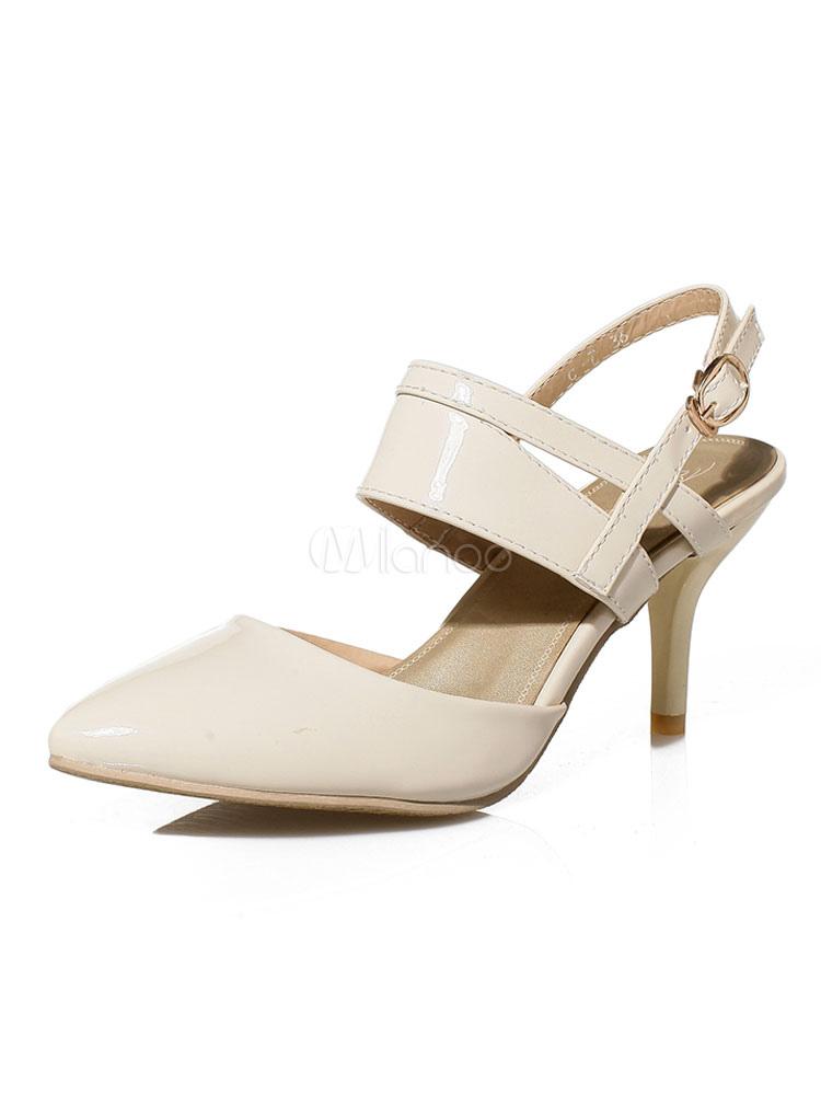 Zapatos de tacón medio estilo moderno para pasar por la noche de tacón de kitten de PU de puntera puntiaguada P2qFVDhD