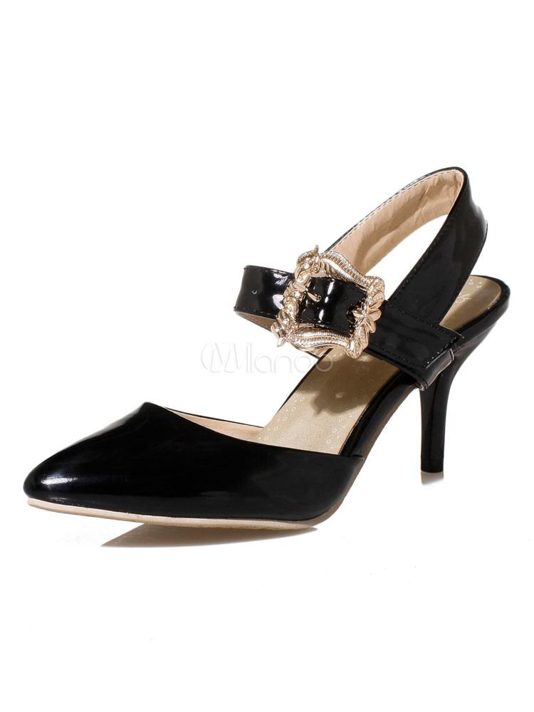 Zapatos de tacón medio de puntera puntiaguada de tacón de kitten para aumentar la altura estilo modernopara pasar por la noche de PU bTlHyOw7gb