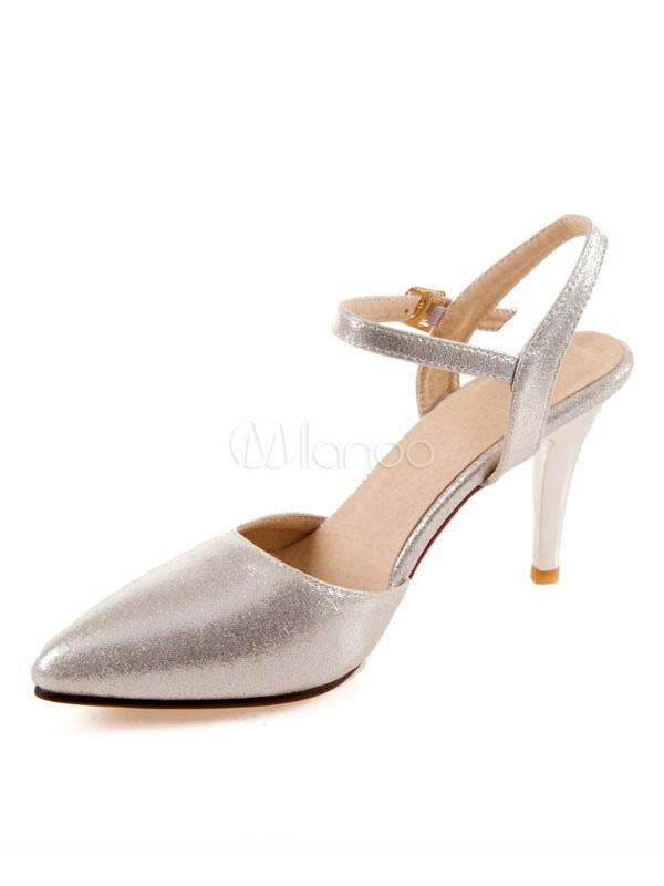 Zapatos de tacón puntiagudo Zapatos de mujer Tacones dorados Tacones Stiletto kcKtAA
