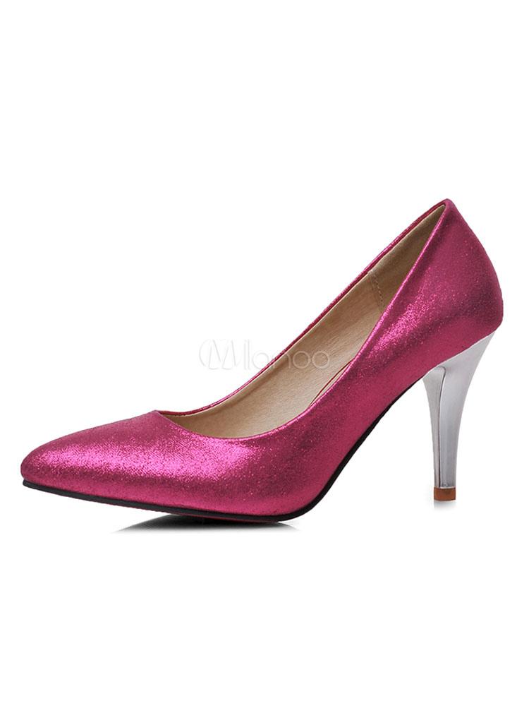 Zapatos de tacón medio estilo moderno para pasar por la noche de tacón de stiletto para aumentar la altura de PU de puntera puntiaguada NCCAcO