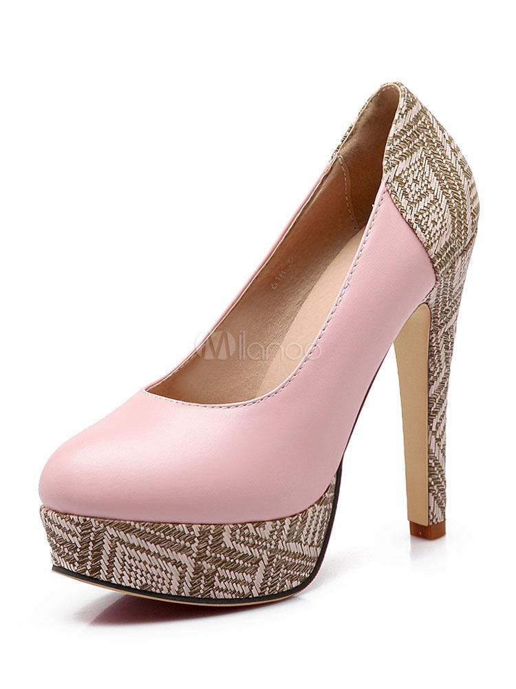 Zapatos de plataforma de PU con dibujo retazados estilo moderno IpvCrcD
