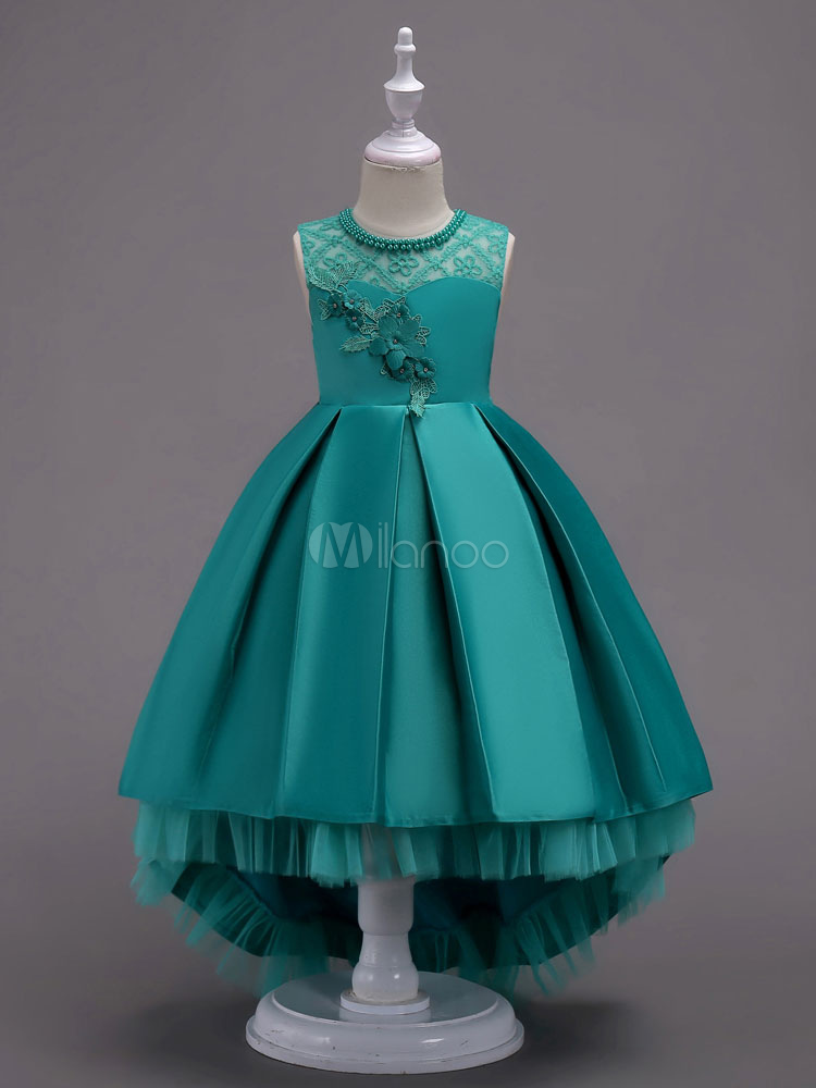ea6b24bac Flower Girl Dresses Ball Gowns Kids Pageant Dress Mint Green Lace ...