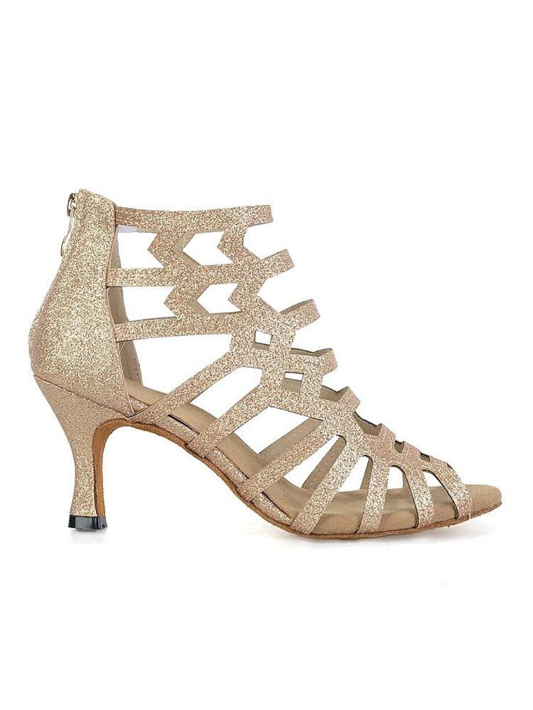 Cut-outs Peep Toe zapatos de salón de baile zapatos de baile gj6db