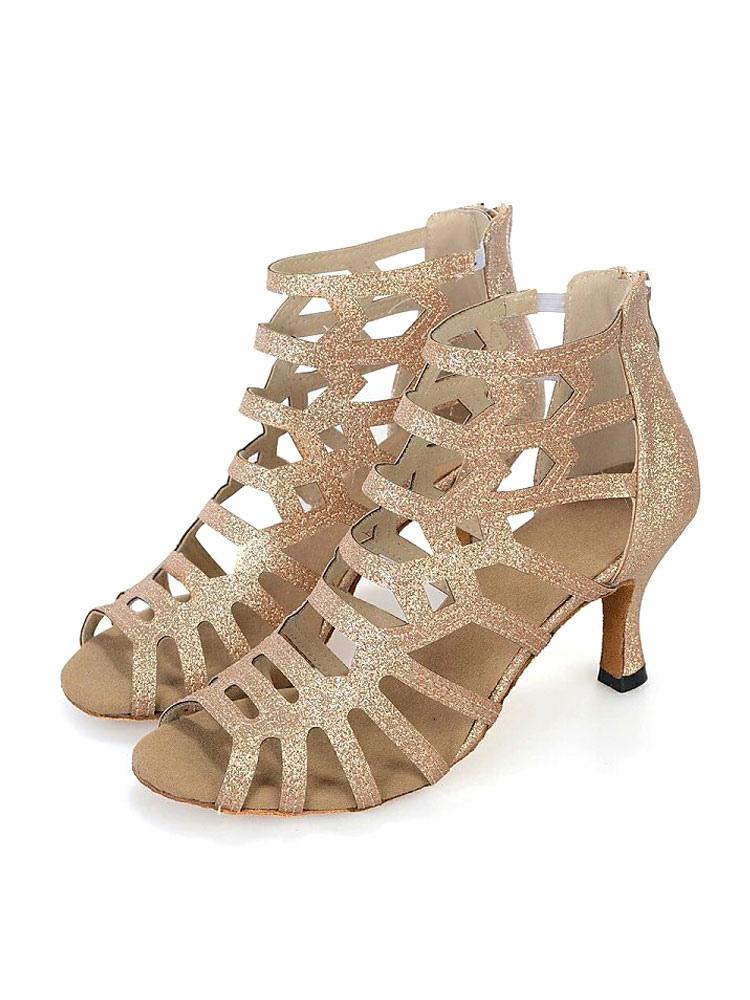 Cut-outs Peep Toe zapatos de salón de baile zapatos de baile dYqsRfq1