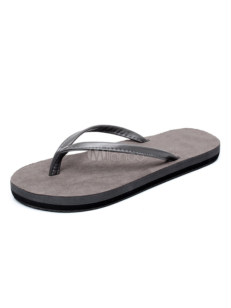 Buy Women Flip Flops Silver Grey Thong Detail Backless Sandals Beach Sandal Shoes for $12.74 in Milanoo store