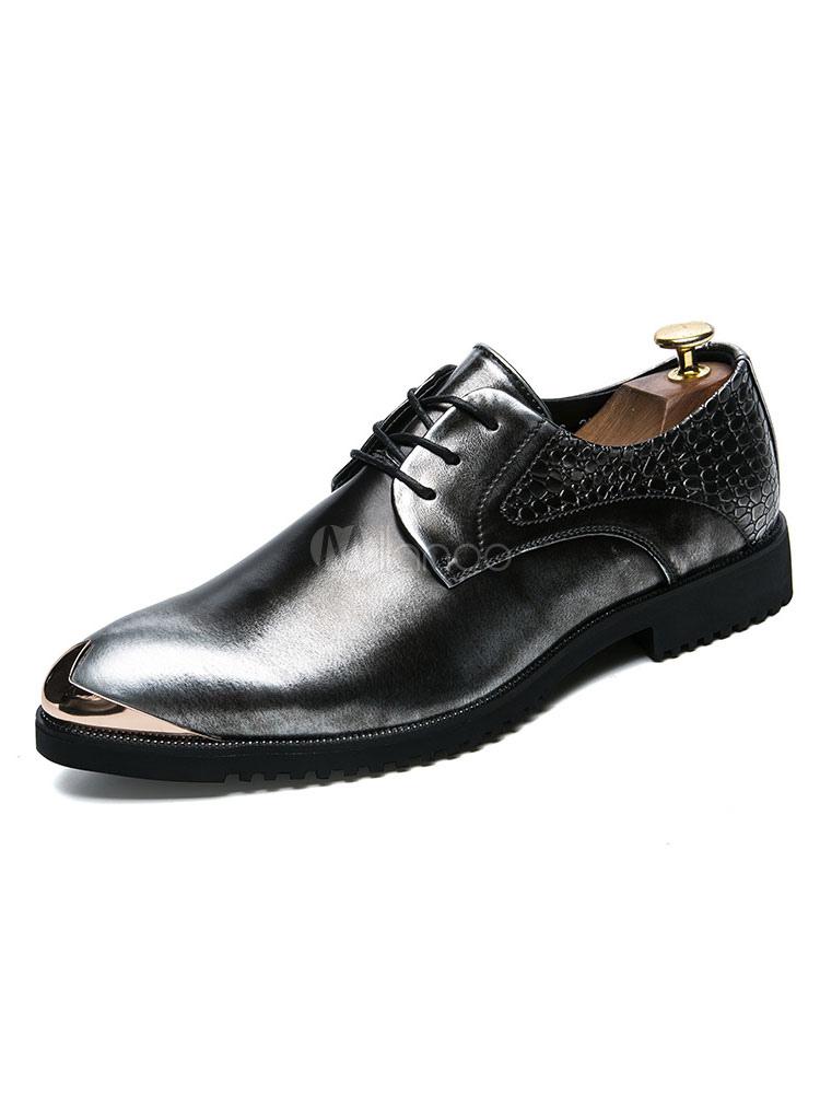 Zapatos de vestir de plata Zapatos de hombres Zapatos de negocios ocasionales puntiagudos tF3zIMxY