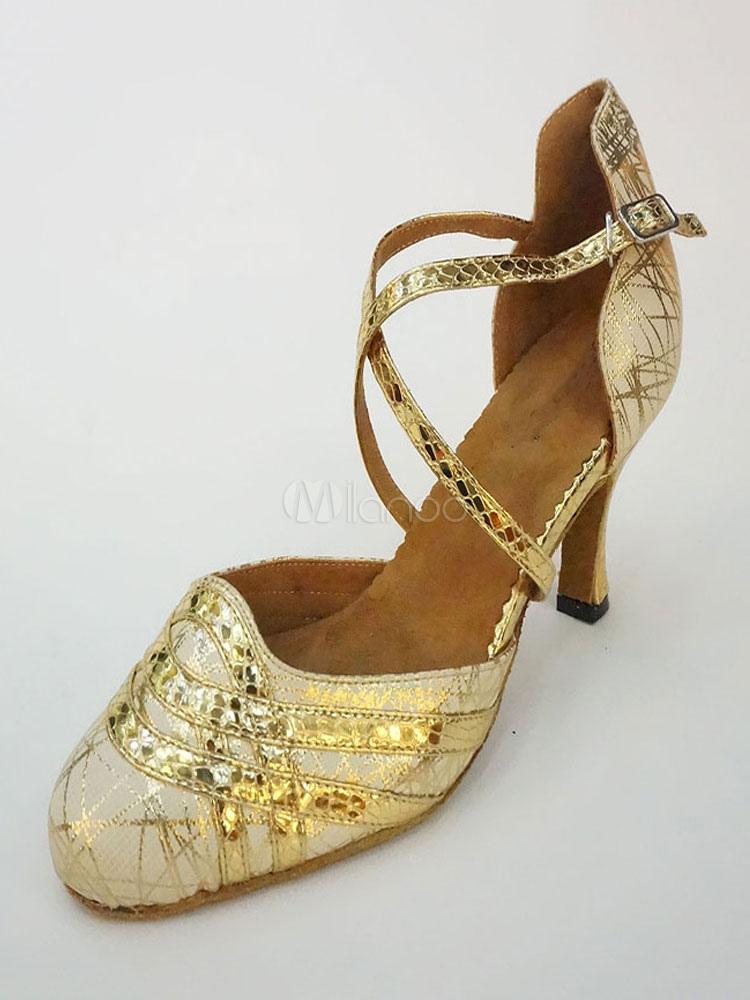 ... ballroom dance shoes Source · Gold Dance Shoes Glitter Round Toe Criss  Cross Latin Dancing Shoes d34ce2e8fc57
