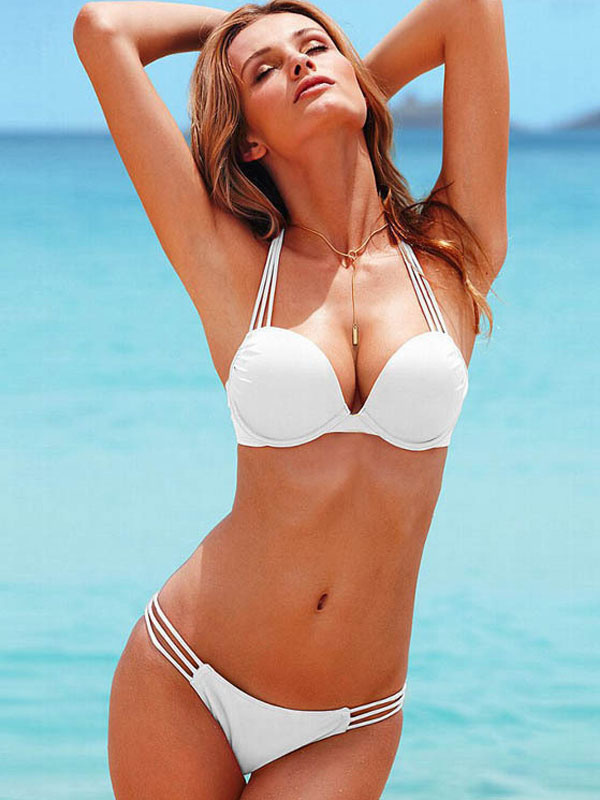 White Bikini Swimsuit Women Sexy Beach Wear Halter Low Waist Push Up Swim Bathing Suit