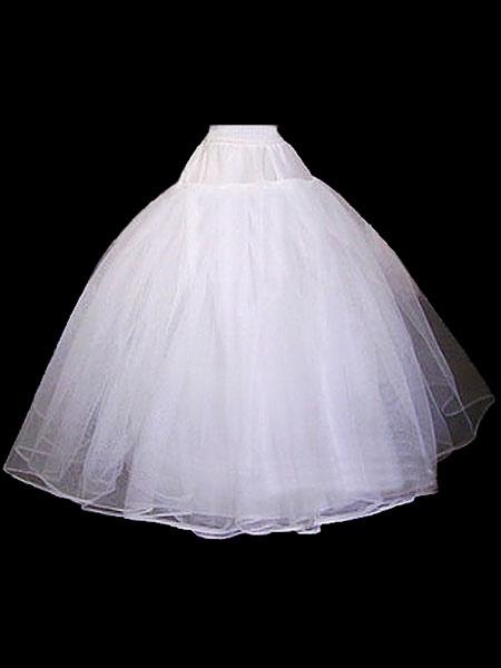 White Wedding Petticoat Tulle Bridal Crinoline Underskirt Slip