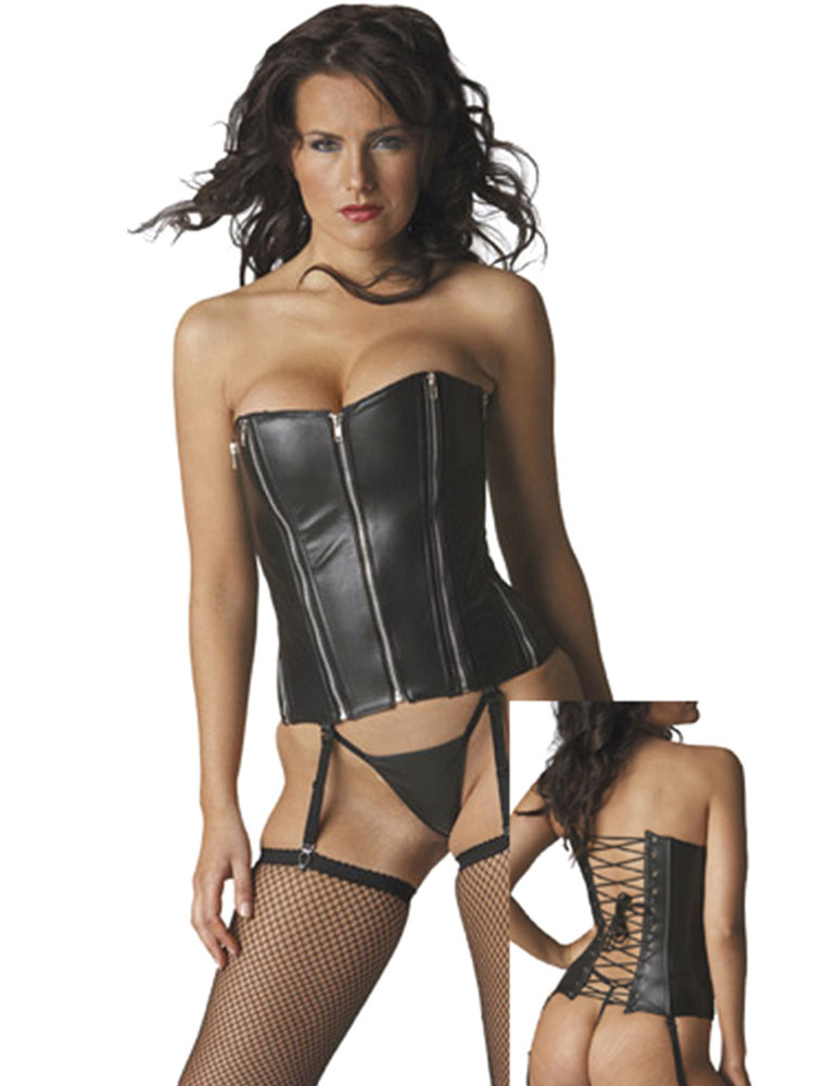 Buy Sexy Costume Corset Cincher Halloween Black Women Night Club Wear Saloon Girl Costume for $34.19 in Milanoo store